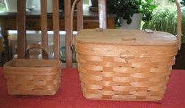 Longaberger baskets - picnic ready!