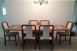 Gangso Mobler teak dining table & chairs