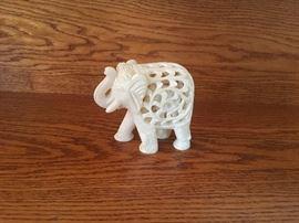 Carved elephant inside of elephant