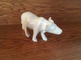 Signed soapstone carved water buffalo