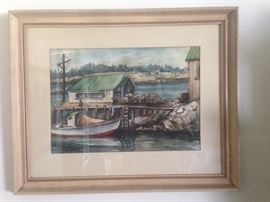 Lorena Lynch watercolor, signed