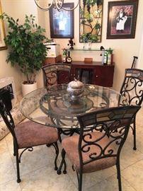 Dining Set $350 OBO   Large artificial plant $50  (bar in next pictures)