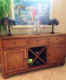 Buffet with wine rack $225 OBO