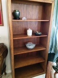 second oak bookcase (matches first) $55