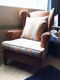 Wicker occasional chair $90 OBO