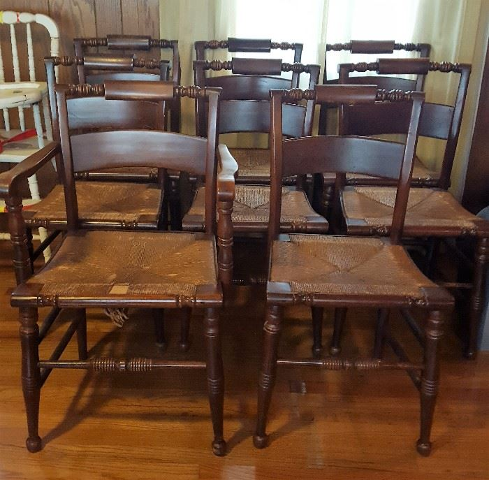 10 Hitchcock Chairs With Rush Seats