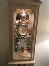 China cabinet with collectables