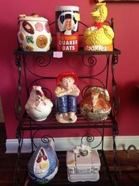 Large variety of Cookie Jars.
