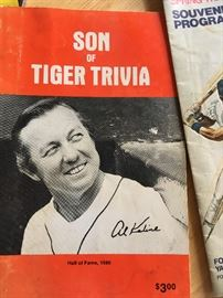 Tiger legend and Hall of Famer Al Kaline on a book co-written by Ernie Harwell.