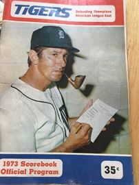 A 1973 Detroit Tiger program featuring then manager Billy Martin on the cover.