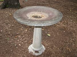 Vintage cement  - pedestal urn design birdbath