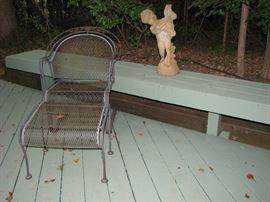 Metal chair /ottoman