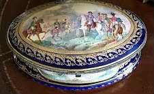 Magnificent  Sevres 19th Century Hand Painted Porcelain Jewelry Box