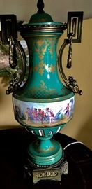 Pair of Lamps, Sevres Style Vases with Ormolu Mounts