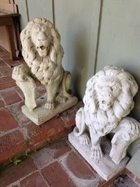 Pair of Garden Cement Lions
