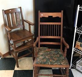 High Chair & Rocker