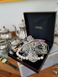 Vintage Sterling and Costume Jewelry