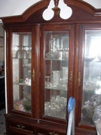 China Hutch and lots of glassware...