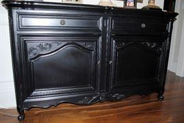Drexel Heritage black buffet cabinet