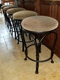 Counter height bar stools (5)
