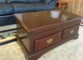 Coffee table with lift top table