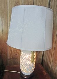 Base of lamp lit