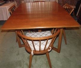 Conant-Ball Mid-Century Dining Table, Chairs, Pads