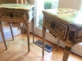 Antique Revival Jade-Topped Nightstands
