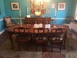 Dining room table with 8-chairs