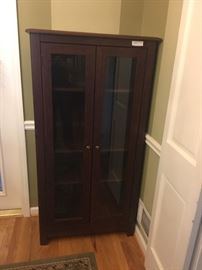Hutch with glass doors-great size, will fit most anywhere