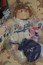 1980's KC Royals #5 Cabbage Patch doll     LIVING ROOM