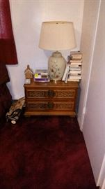 Night stand or end table and books