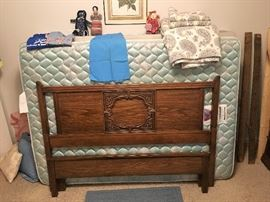 Bassett full bed frame, headboard, footboard and mattress