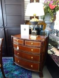 MAITLAND SMITH LEATHER WRAPPED CHEST OF DRAWERS