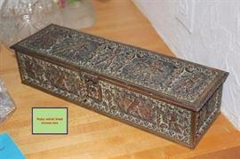 Ruby Velvet Lined Bronze Box