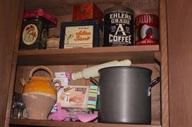 Vintage Tins and Kitcheware