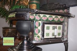 Beautiful French Stove - Slate Top can be removed