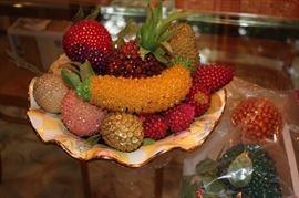 Decorative Beaded Fruit