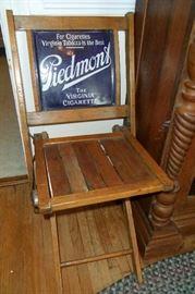 Antique Piedmont Virginia Cigarette Advertising Folding Chair!