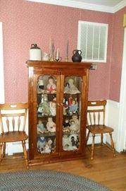 China Cabinet,Crocks,Antique & Vintage Dolls