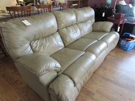 Leather sofa recliner