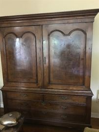 18th century Dutch George II linen press purchased from Steins in New Orleans