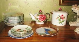 nice assortment of painted plates