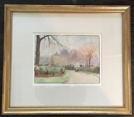 """Signed J. Fontaine, Watercolor, 10""""x13""""."""