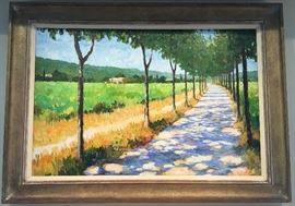 """Marcel Gatteaux, 1962-, """"Path Through Vines"""", Oil, 24""""x36""""."""