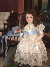 "34"" Artist Doll, see the chairs behind?"