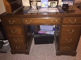 solid wood desk $75