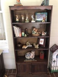bookcase solid wood two doors on bottom $50