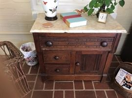 antique commode with marble top $200
