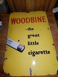 Rare steel Woodbine tobacco advertising sign